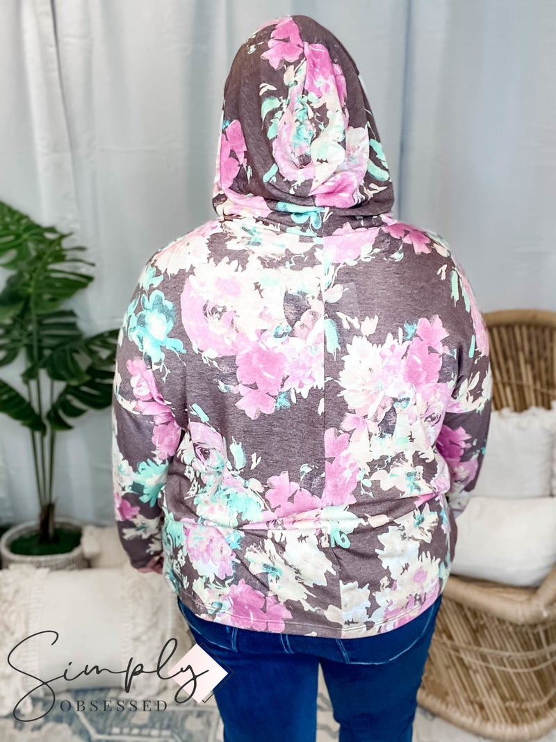 Orlando Sew In Love Pre-Sale - Floral Hoodie W/Pouch(All Sizes)