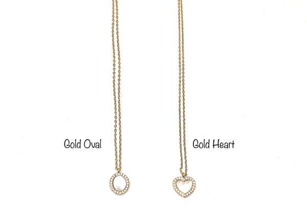 Gold Heart and Opal Necklaces
