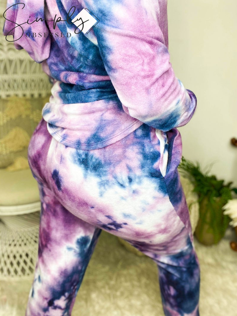 Honey Me - Tie dye soft elastic waist band joggers (all sizes)