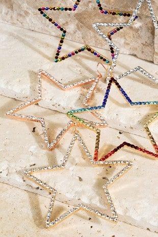 Gold Star Rainbow Hoops