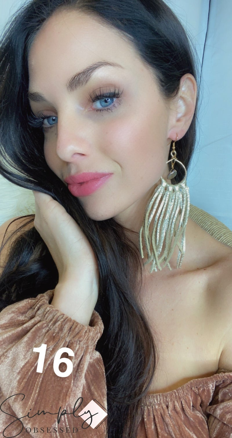 Emerge Mandy Fringe Earring with Stone