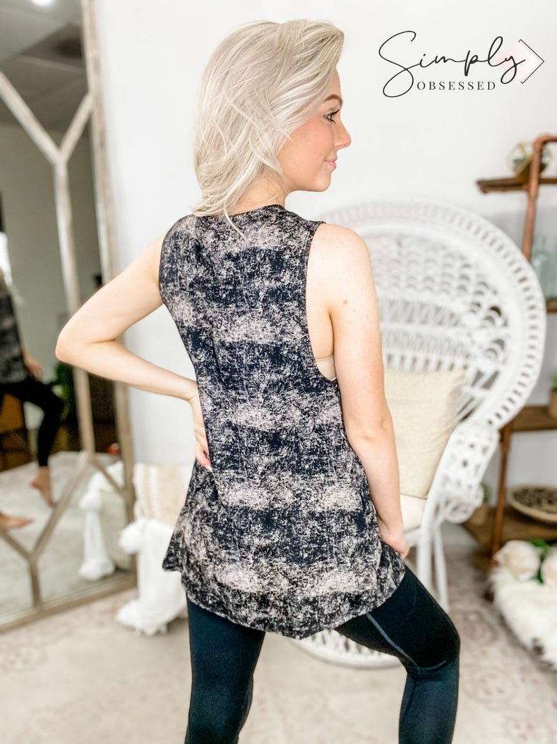 FANTASTIC FAWN- Mineral Washed Sleeveless Knit Top
