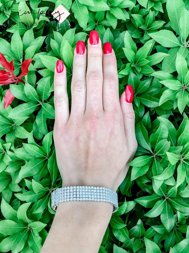 NYJ - Rhinestone Pleated Bracelet