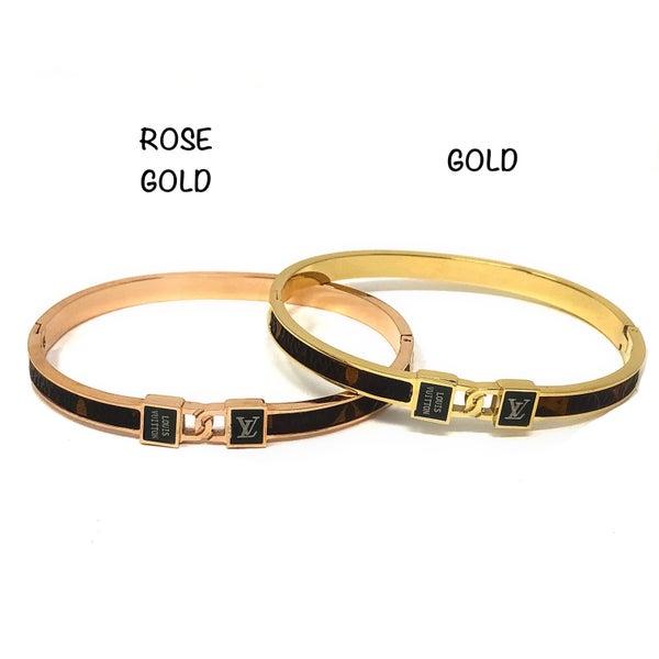 Designer Inspired CZ Lock Bracelet