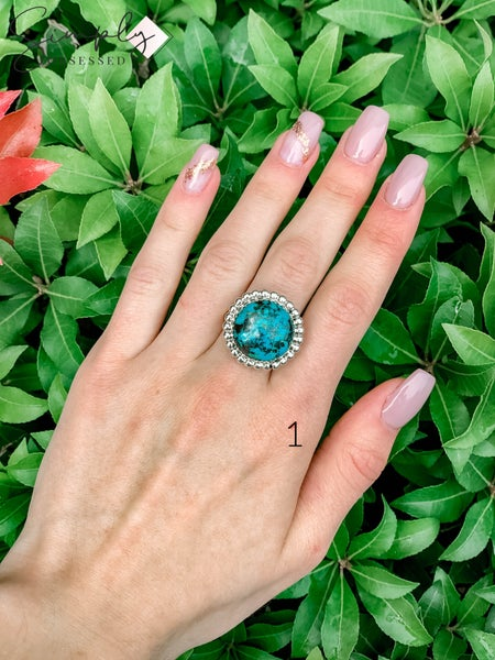 M & S - Turquoise Round Ring  - NO RESIZING