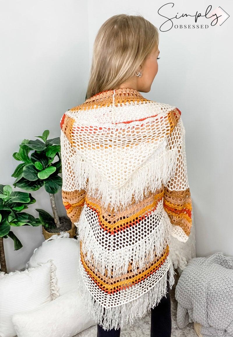 Pol - Hood detail knit poncho