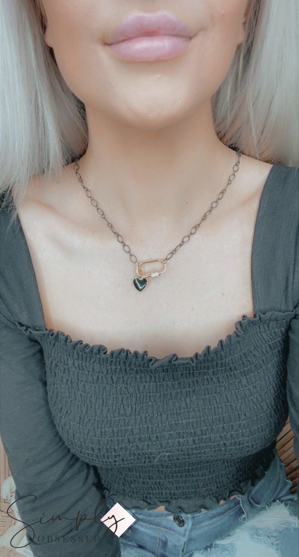 TPJ - Gunmetal Lock Necklace