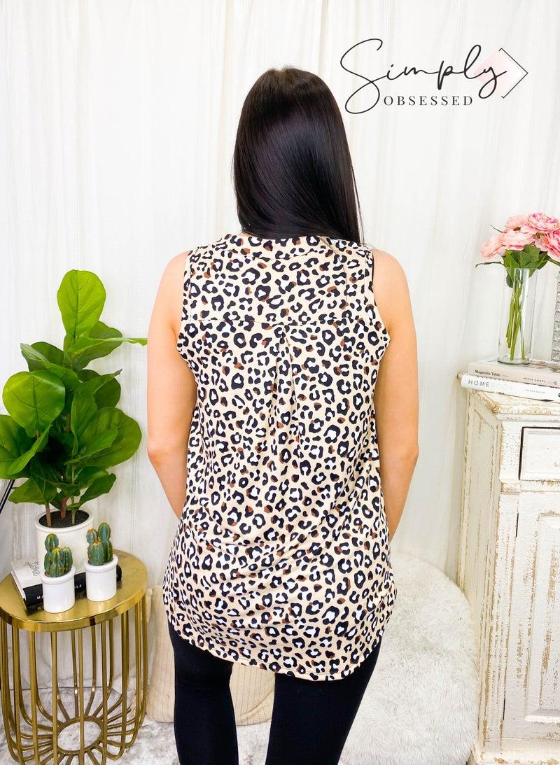 Sew In Love - Animal print tank w/ v-neck