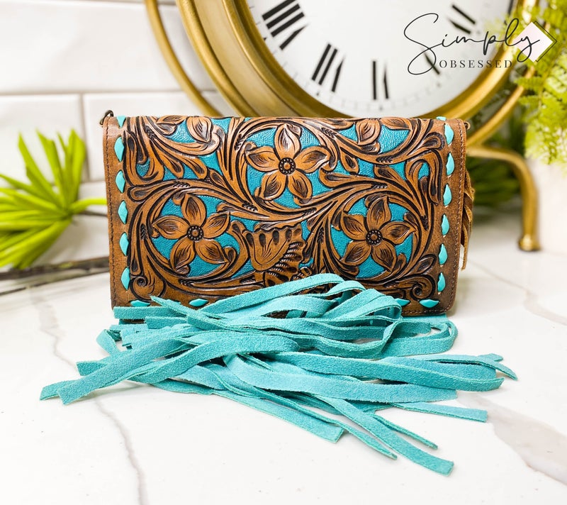 American Darling - Tassel detail leather work wallet