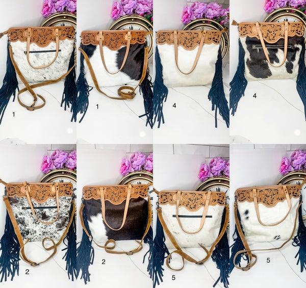 American Darling - Leatherwork medium fringe handbag with fringe