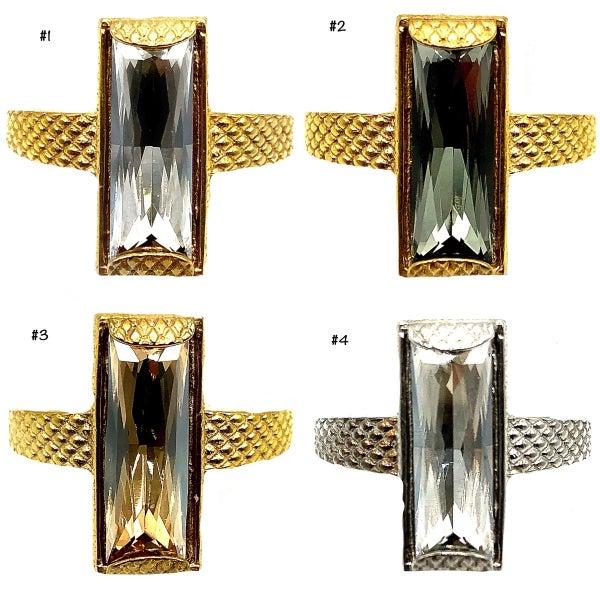 Adjustable Baguette Ring
