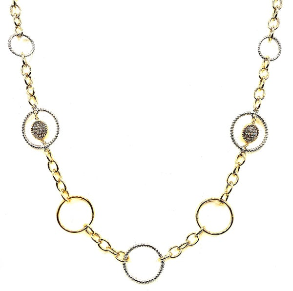 Silver and Hold Hoop necklace
