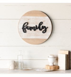 VIP ATL - Antique Finish Layered Wood Family Sign