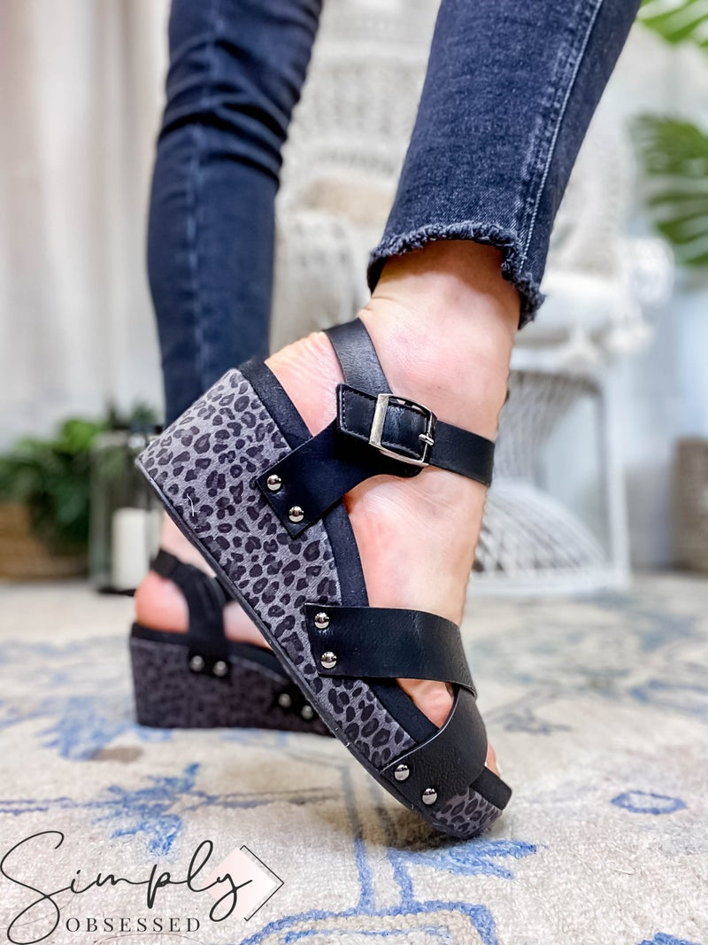 Corkys - Heeled Wedge Sandal W/ Ankle Strap