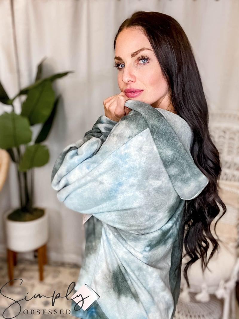 Sew In Love - Tie Dye Long Sleeve Hoodie Top (All SIzes)