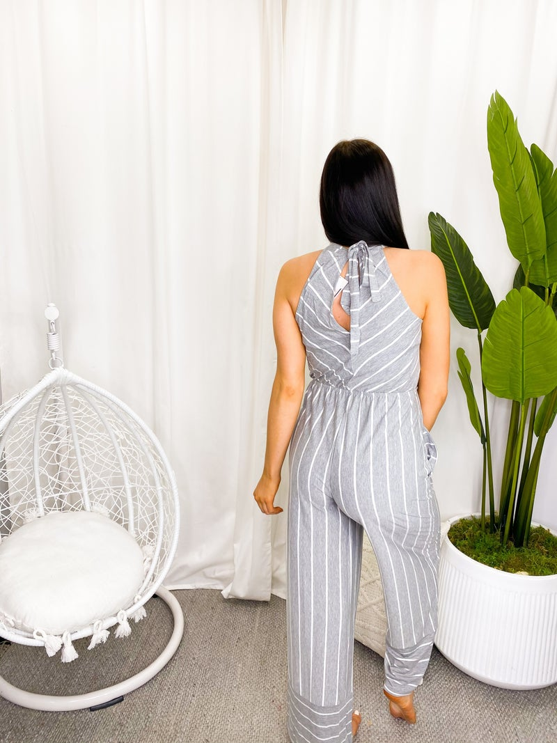 PS KATE-Sleeveless Striped Jumpsuit