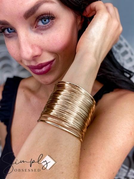 Accessory Concierge - Gold Wire Cuff