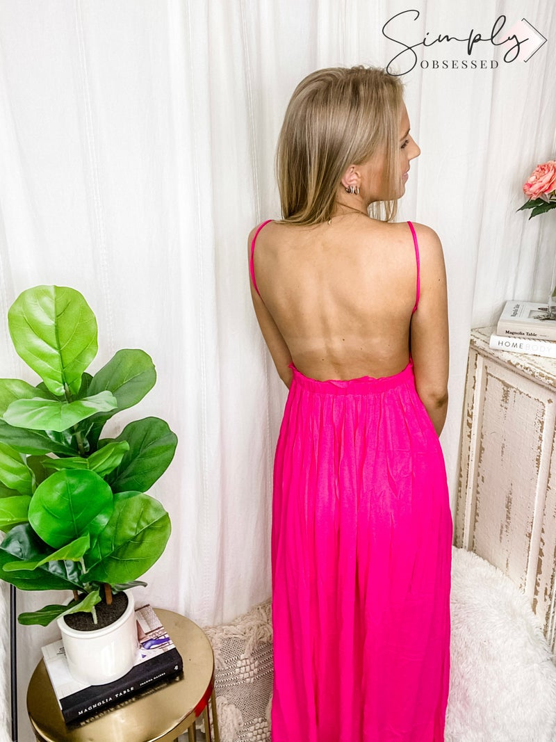 BiBi - Lace top open back maxi dress