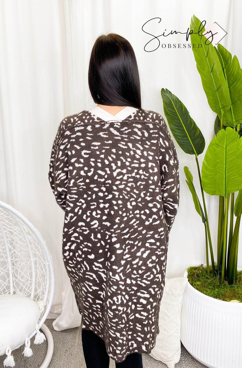 Pol - Animal print knit cardigan
