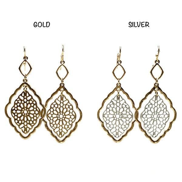 Golden Halo Mandala Earrings