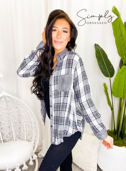 Kori - Checker Mix Long Shirt