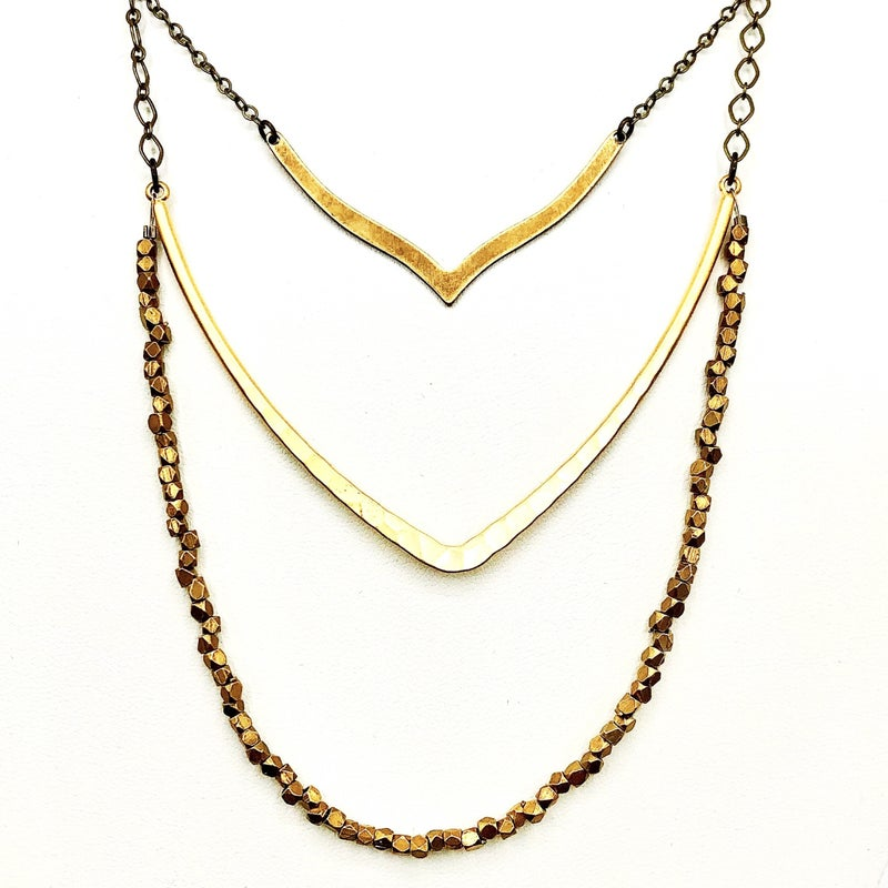 Gold Layered V Necklace