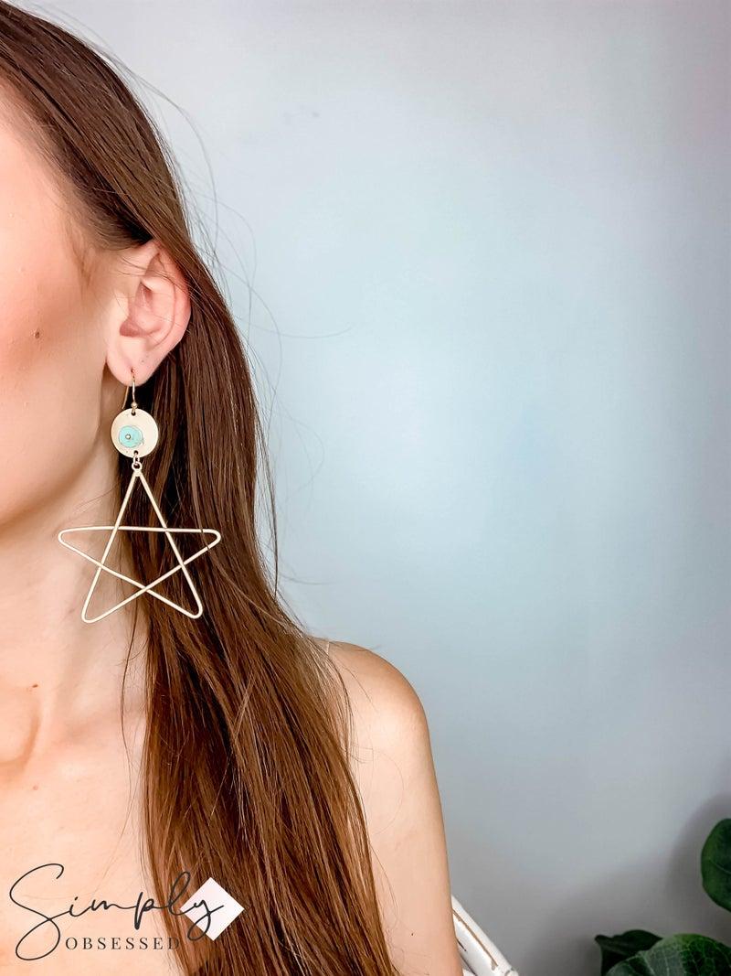 JGB - Gold Star Earrings