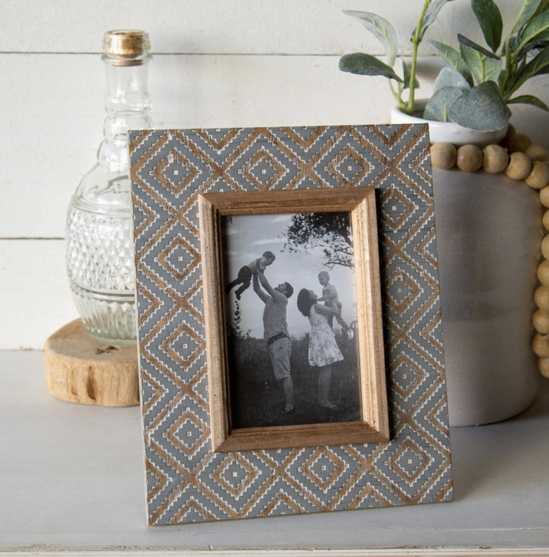 VIP ATL - Natural Wood Antique Frame 4X6