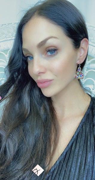 FAIRE - Wood + Glitter Livestock Earrings