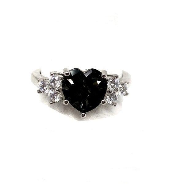 Heart Ring w/Diamante
