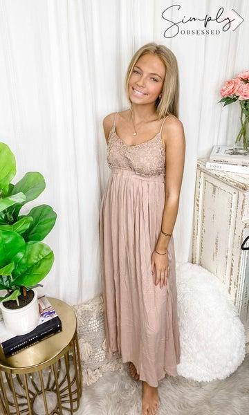 BiBi - Lace top open back maxi dress