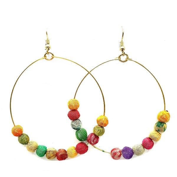 WORLD FINDS - Bohemian Galaxy Hoop Earrings