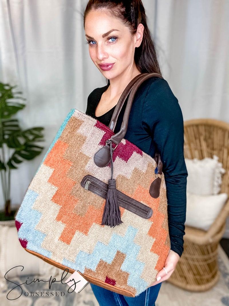 Chloe & Lex - Fall Geo Shoulder Bag