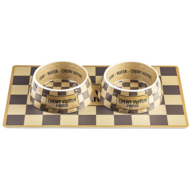 Haute Diggity Dog - Checker Chewy Vuiton Placemat