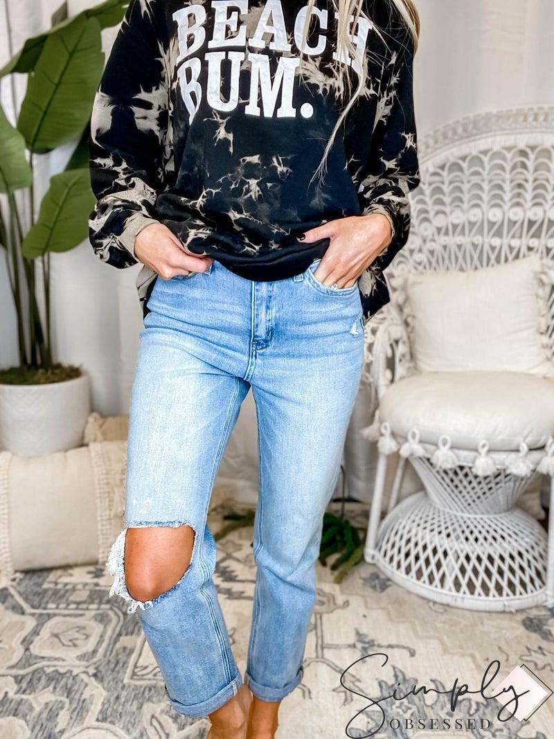 Vervet - Super High Rise Stretch Slim Straight Jeans