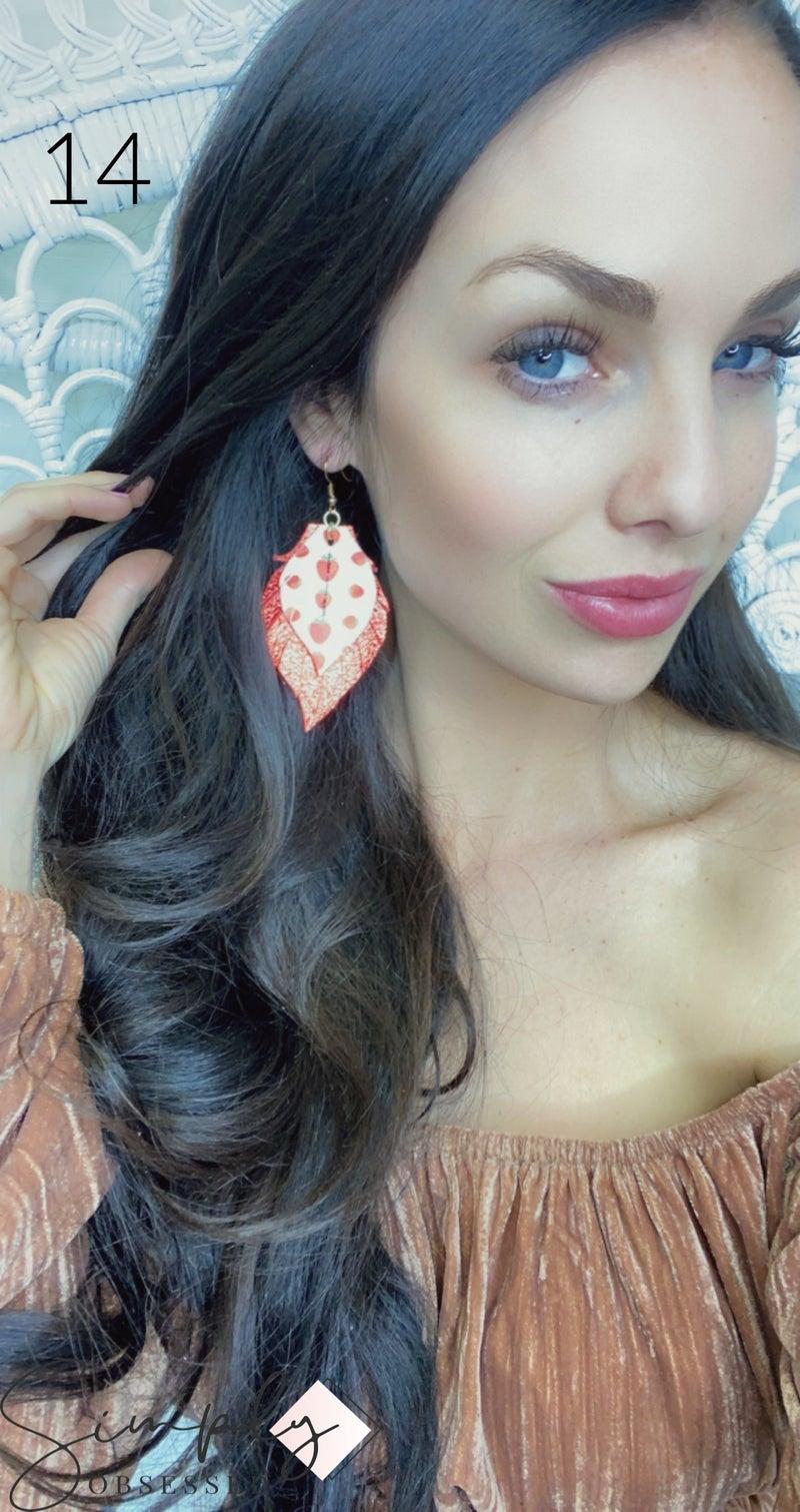 Emerge Medum Double Layer Heather Earring
