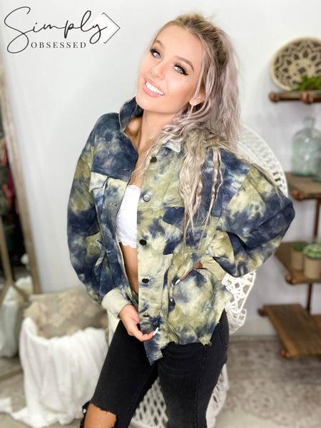 POL - Tie dye cropped jacket