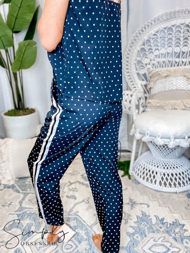 Hem & Thread - Heart Conversational Drawstring Trousers