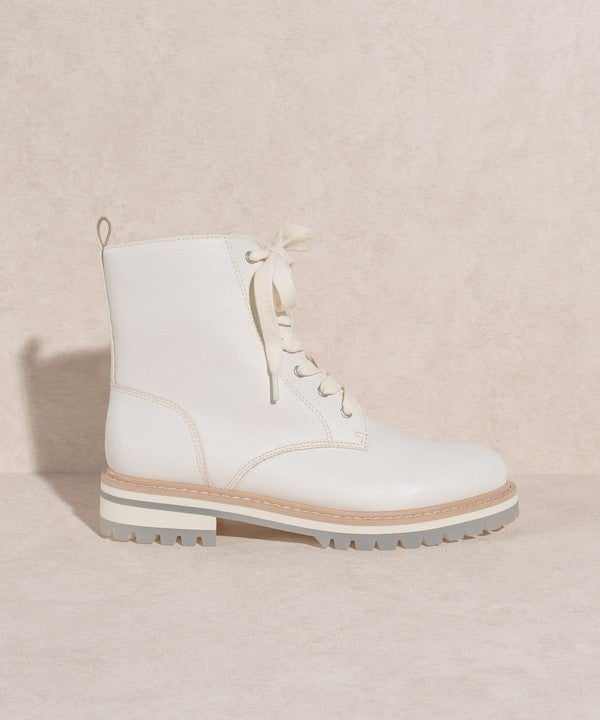 Oasis Society - Modern lace up zipper detail boots