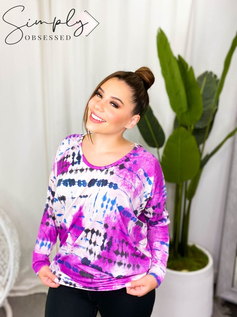 Honey Me - Long sleeve tie dye top (all sizes)
