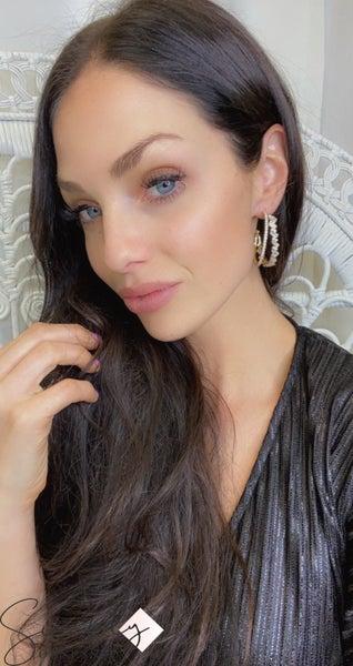 TJ Everly crystal earrings