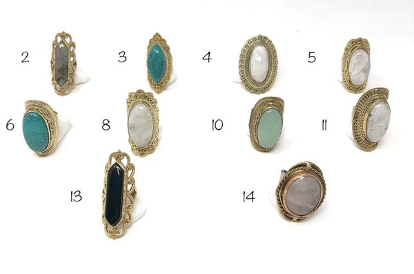 Fine detail designed rings with center stone