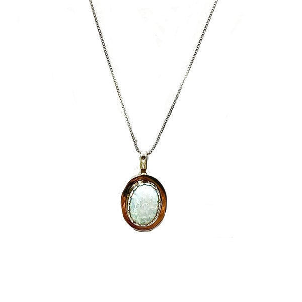 """M&S - White Opal Necklace 16"""""""