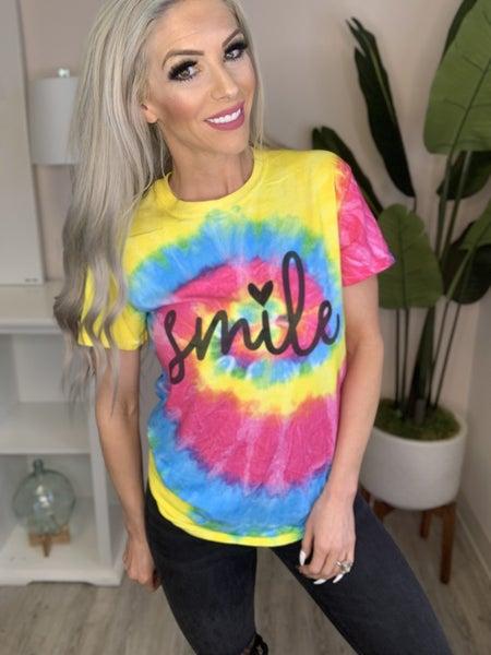 "Colortone - ""Smile"" tie dye shirt"