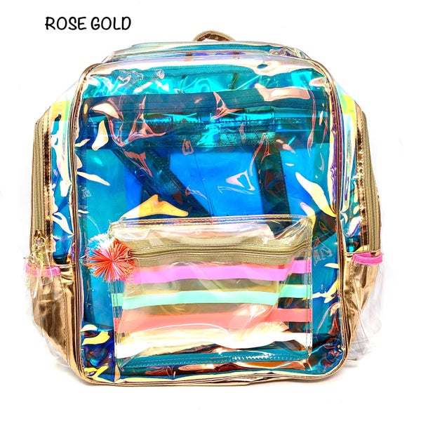 Deerly Southern Attire - Rose Gold Translucent Backpack