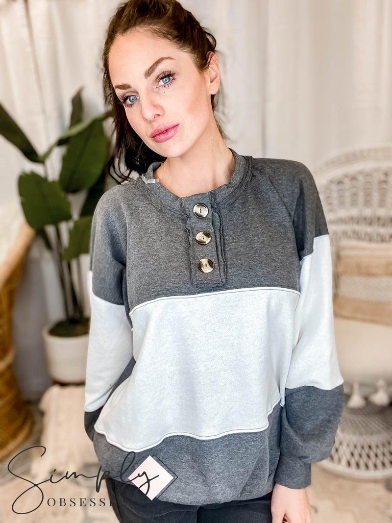 Blue Buttercup - Color block Sweatshirts