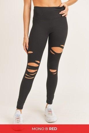 Mono B - Laser Cut High Waist Leggings