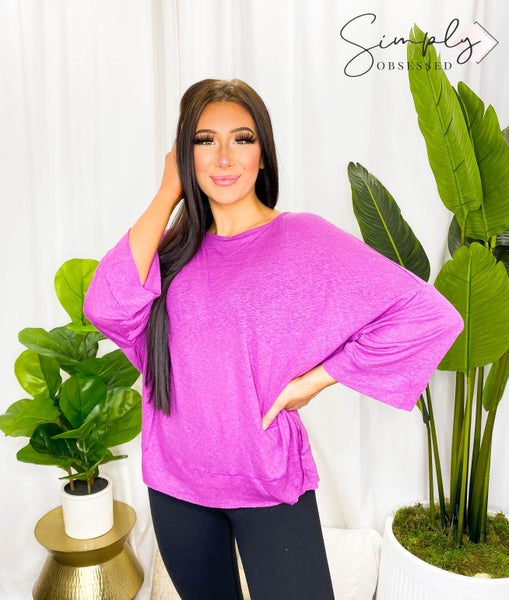 EASEL-Wide Sleeve Knit Top