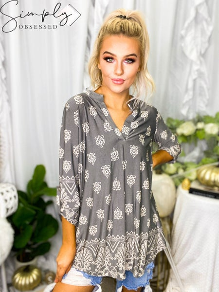 Sew In Love - 3/4 Sleeve pattern tunic knit top