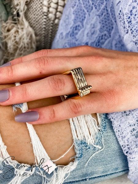 Vidda - Gold Dizzy Square Ring